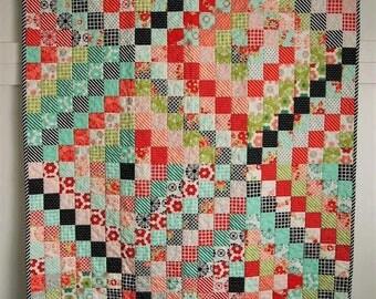Handmade baby quilt - Bonnie & Camille Scrappy Trip Around The World