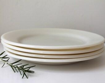 Vintage Corning Milk Glass Plates, Set of 4
