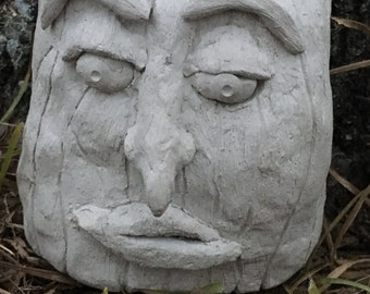 Tree Trunk Face LOTR Style Woodland Waldorf One Of A Find Hand Sculpted Art Piece