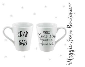 Crap Bag and Princess Consuela Banana Hammock Mugs