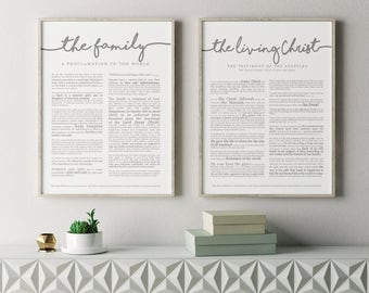 "Large Family Proclamation Print 18 x 24""- LDS"