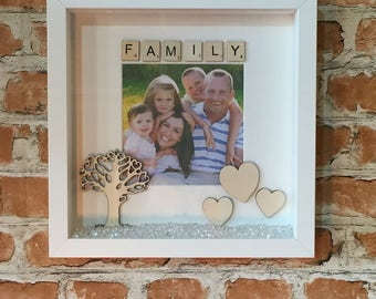 Personalised Family Scrabble Photo Frame