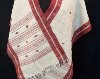 Dongoria tribal hand loomed scarf naturally dyed cotton