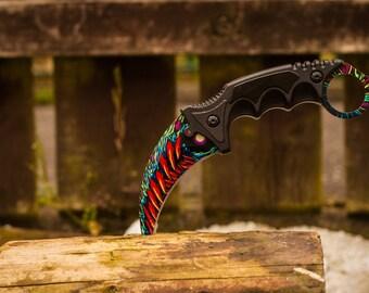 CSGO Karambit Knife HyperBeast Tactical Collectable Knife - CS GO cs:go knife Karambit Counter Strike