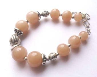 Smoke Rose Quartz 925 sterling silver Plated double sided hand-crafted antique finish Bracelet.