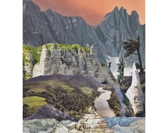 "Print of original collage ""Younger Dryas"""