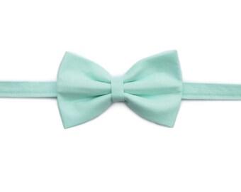 Mint Green Boy Bow Tie | Newborn / Baby / Toddler / Child / Dog