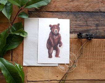 Watercolor Little Bear Postcard Set