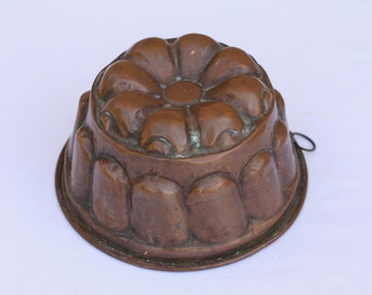 French vintage copper mold