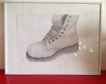 Overlooks me framed original drawing Dc Martens