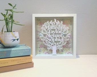 Family Tree Personalized Box Frame