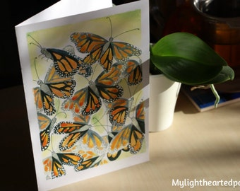 Butterflies Card // Carte Papillons Monarques