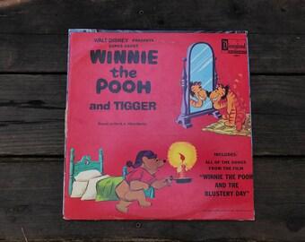 Vintage Walt Disney Winnie the Pooh and Tigger LP 1968