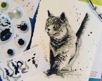 Custom Ink Cat Portrait