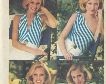 1970s Vintage Sewing Pattern B34-to-36 STRETCH TOP (1008) Butterick 5371