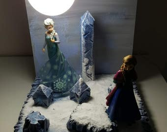 lamp frozen diorama