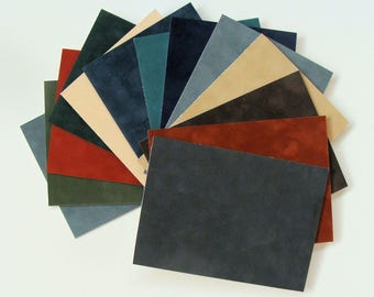 Suede  Mat Board Matting Blanks for Picture Framing, Pastels or Crafts 12 Pieces Color Variety Archival Quality Babric Matboard Choose Size