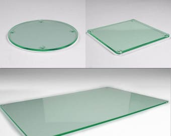Round dining table etsy for Glass table placemats