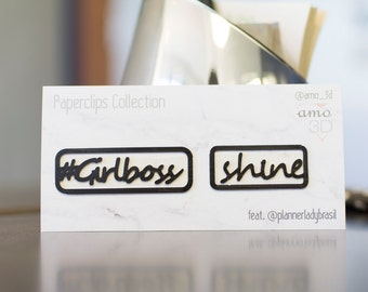 Clips #Girlboss + Shine kit - @amo_3d feat. @plannerladybrasil collection