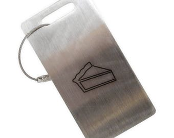 Pie Slice Stainless Steel Luggage Tag