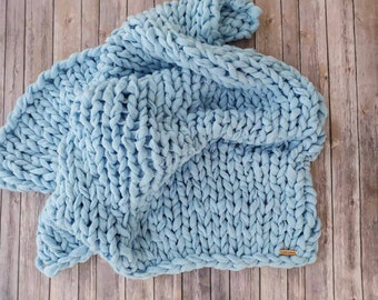 Baby Blanket, Knit Blanket, Chunky Knit Blanket, Arm Knit Blanket, Vegan Blanket, Chunky Blanket, Infant Blanket, Child Blanket