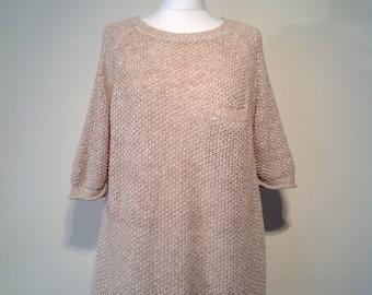 Woman retro style Whistles jumper beige knitwear