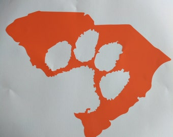 Clemson Tigers South Carolina Clemson paw vinyl decal window decal cup decal