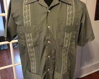 Vintage Genuine Haband Guayabera Shirt