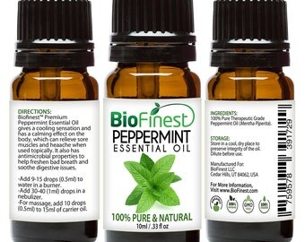 BioFinest Peppermint Oil - 100% Pure Peppermint Essential Oil - Therapeutic Grade - Premium Quality