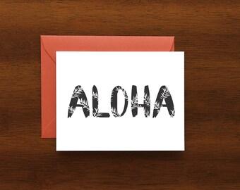 Aloha Fern Card - A2 -  Everyday Greeting Card