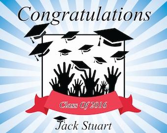 Graduation celebration banner, congratulation banner, graduation decorations ; 10000224
