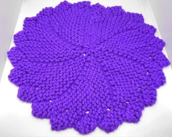 Made to Order knit dishcloth, dishcloth, cotton dishcloth, knitted items, dish towels, doily, knit doily