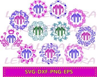 60 % OFF, Pattern Frames Svg, Circle Monogram Frames svg, Frames Svg, dxf, Ai, Eps, Png, Monogram Files, Vector, Vinyl Design, Patterns