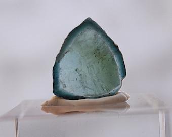 11.05 Polished indicolite Tourmaline slice from Kunar, Afghanistan D9