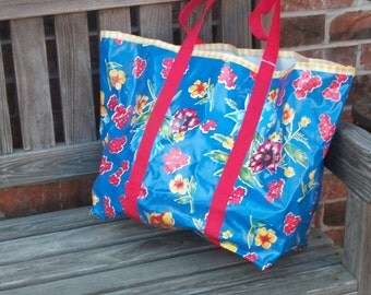 Reusable Oilcloth Tote Bag