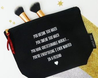 Best Friends Make Up Bag