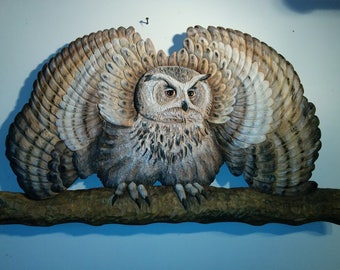 N79. Big Snowy Owl -  by Sculpteur Flamand Inc.