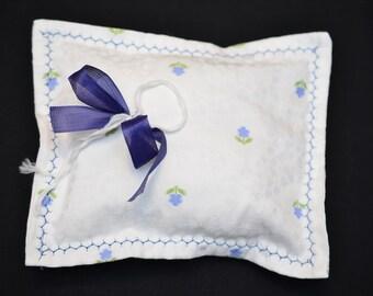 Boho vintage RingträgerKissen with lavender, ring cushions, wedding ceremony, wedding, wedding, wedding, romantic wedding, 21 x 17 cm