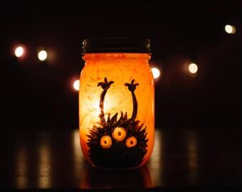 Monster Mason Jar Luminary with Votive Candle