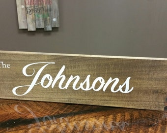 Wood sign with Painted Lettering