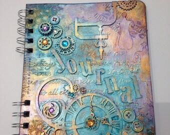 Steampunk, Journal, Teal, Write