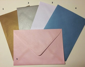Soft coloured envelopes