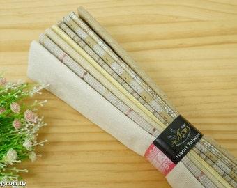 Precut fabric (Yellow | Fat eighth bundle | 45 cmx 27.5 cm | 8 pieces)