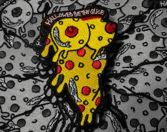 PizzaTits Iron On Embroidered Patch