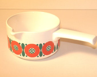 "Vintage 70s ceramic pot with spout by ""Melitta"""