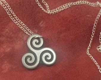 celtic triskele inspired  pendant