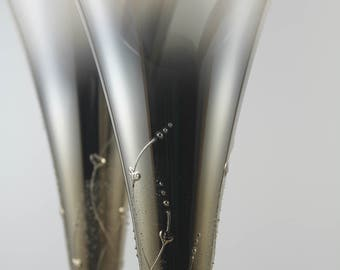 "Wedding glasses ""Metallized with lightening"""