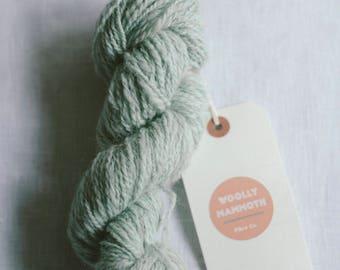 50g Hand Spun, Hand dyed duck egg blue yarn, 100% Blue Faced Leicester, pastel blue, 2 ply, Made in Ireland.