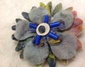 Hand felted flower brooch...