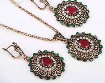Vintage Turkish Jewelry Set For Women